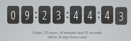Countdown timer for Maintenance / Under Construction / Coming soon