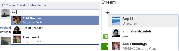 Auto complete friends list like Facebook or Google using